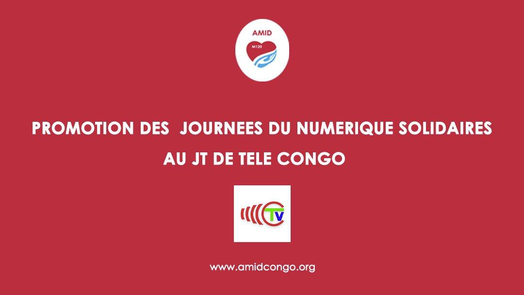 JT de TV Congo, annonce des Journées du Numérique Solidaire à Pointe Noire