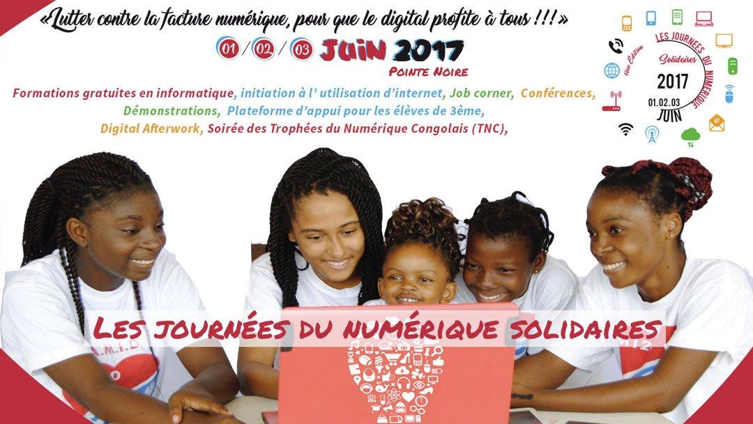 Les journées du Numérique Solidaires du 01 au 03 juin 2017 à Pointe Noire